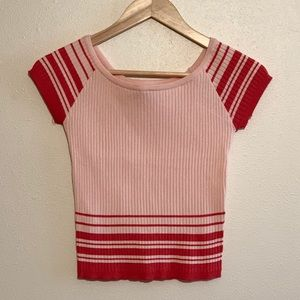 PacSun (LA Hearts) Pink and Red Tee